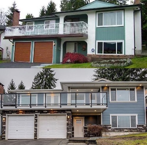 exterior renovation vancouver coquitlam before after