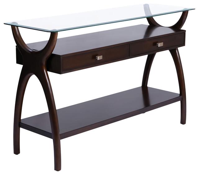 Hildegard Dark Cherry Stain Console Table