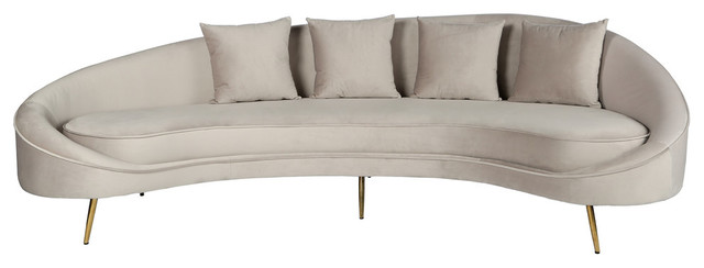 Cleo Curved Sofa Light Gray