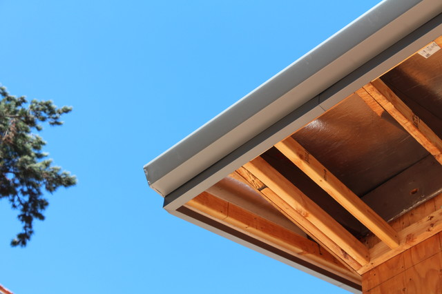 fascia board wrap cladding angle faced gutter in paint