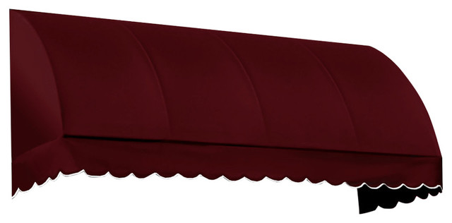"4&x27; Savannah Window Awning, 44"" Hx36"" D, Burgundy."