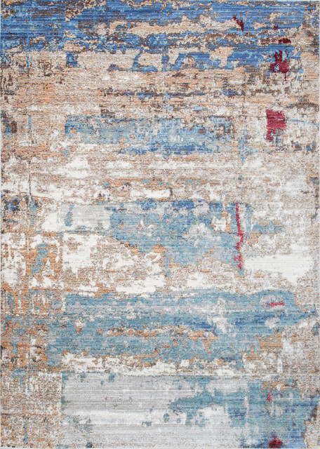 Nuloom Abstract Delisa Kkas26a Blue Area Rug 9&x27;x12&x27;.