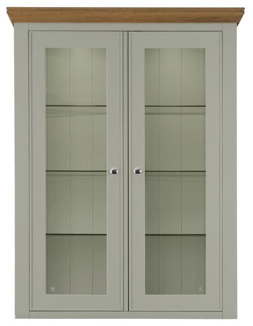 Somerdale Display Cabinet Top Unit, Rockford Grey