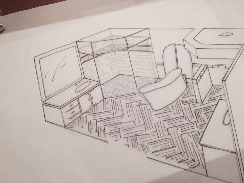 Design development drawing Detail layering