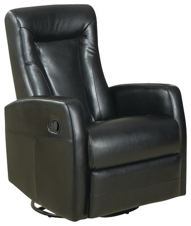recliner swivel rocker black bonded leather recliner chairs by