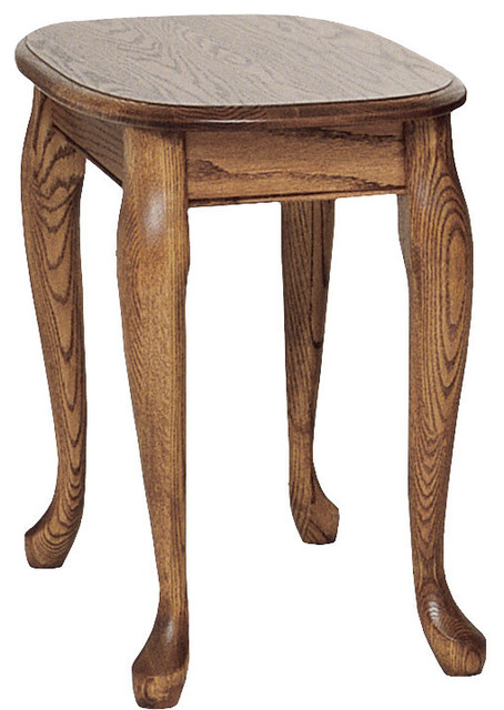 The Oak Furniture Shop Queen Anne Solid Oak Chair Side Table Side Tables And End Tables Houzz