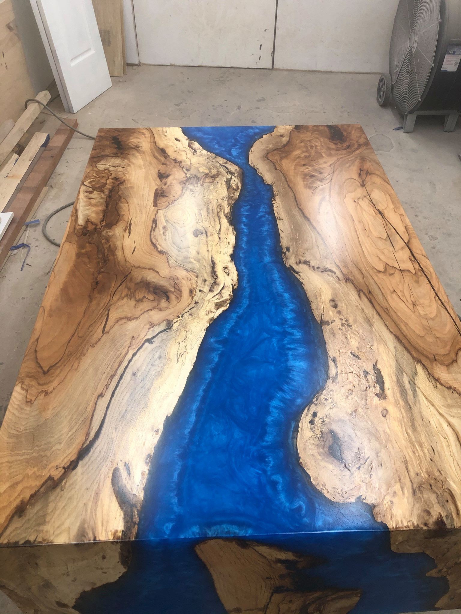 Pecan Live Edge with Deep Epoxy Pour