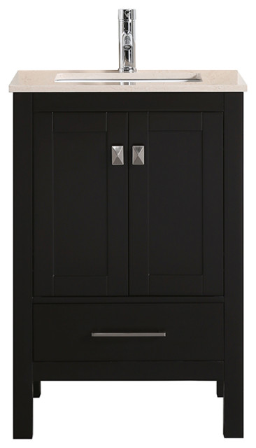 Eviva London 24 X 18 Espresso Transitional Bathroom Vanity Transitional Bathroom Vanities And Sink Consoles By Decors Us