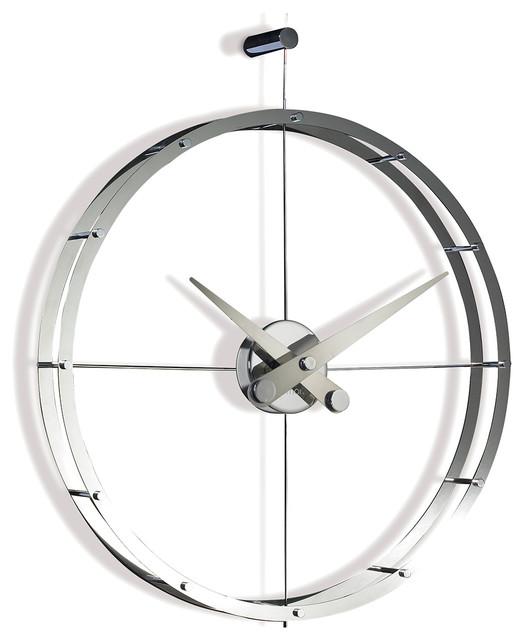 Designer Wall Clocks 2puntos steel wall clock - wall clocks -modo bath