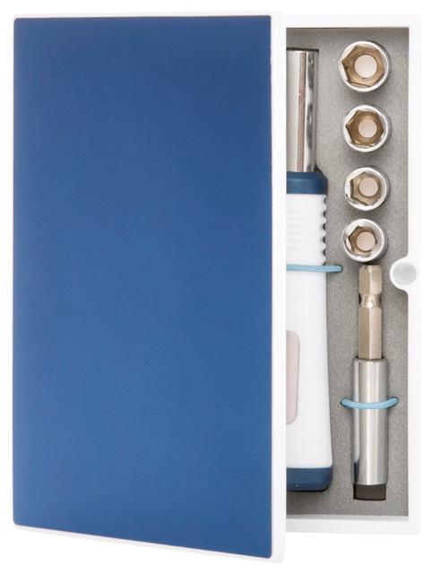 Fix-It Kit (metallic Box), Blue & White.