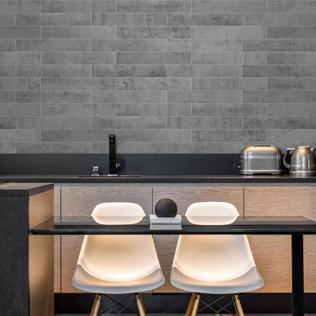 Norway Voss Concrete Backsplash Tile, Sample