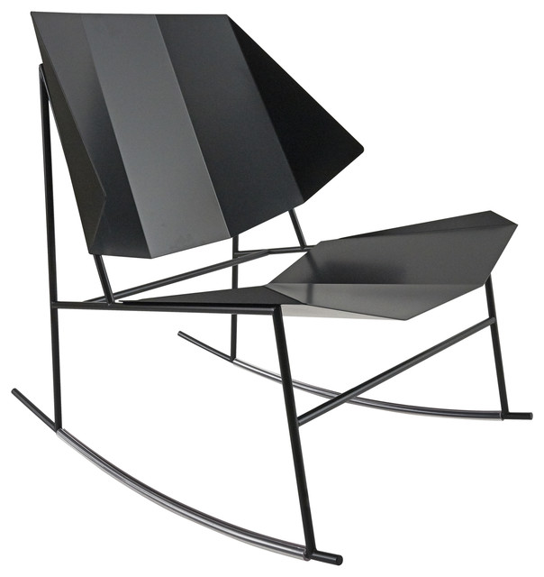 Terra Collection Rocking Chair, Black Grey