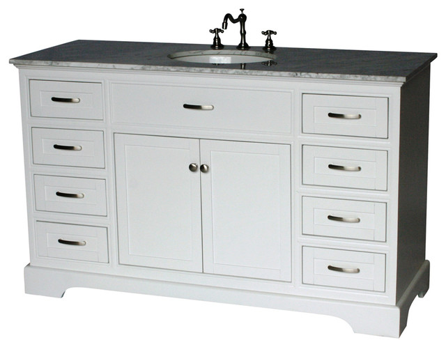 56 Contemporary Style Single Sink Bathroom Vanity Model 2422 56 Wk Transitional Bathroom Vanities And Sink Consoles By Chinese Arts Inc Houzz