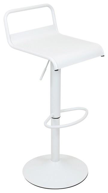Phenomenal Lumisource Emery H Adjustable Barstool With Swivel Matte White Evergreenethics Interior Chair Design Evergreenethicsorg