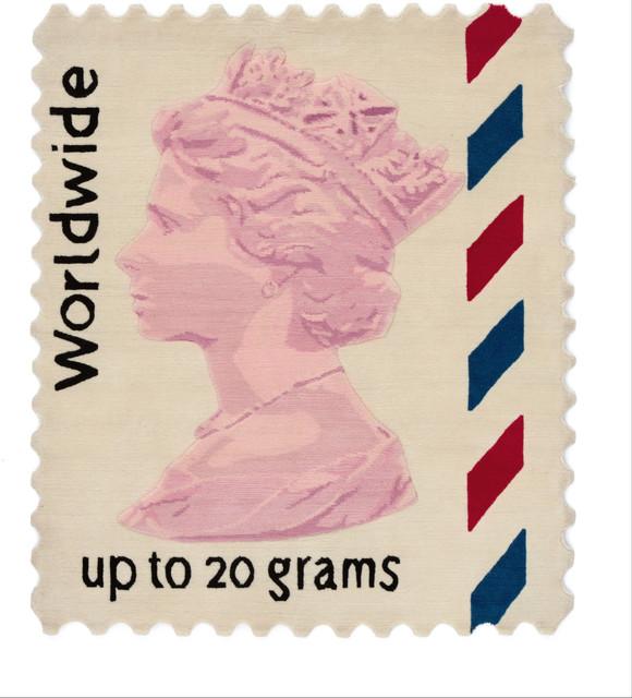 Stamp Rug worldwide stamp rug, 100x120 cm - eclectic - floor rugs -rug maker