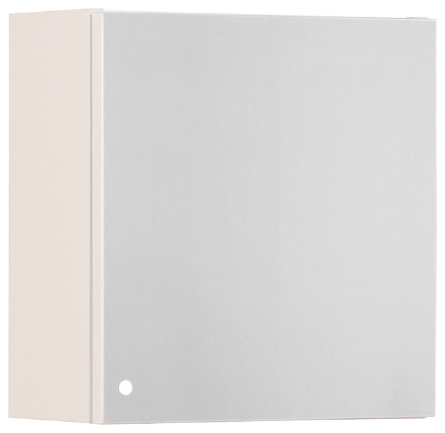 Ordinaire Luxy II High Gloss White Bathroom Cube Wall Cabinet With Mirror