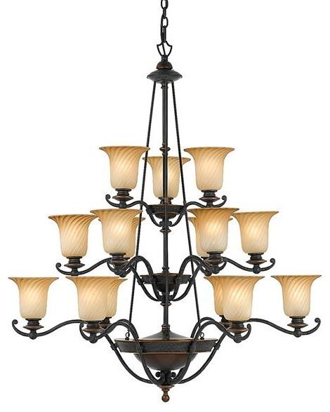 Quoizel Lighting GE5015SE 15 Light Chandelier Genova Collection