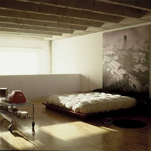 living space eclectic bedroom