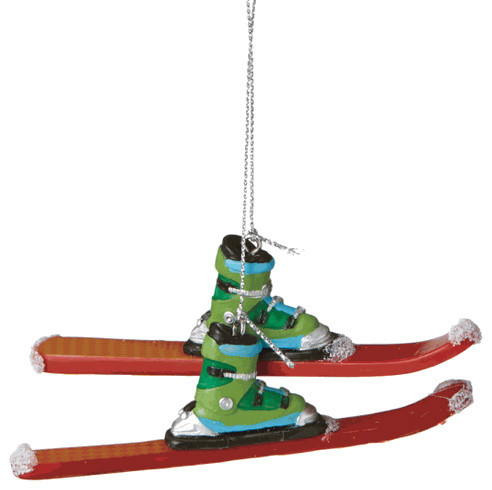 downhill skiing christmas tree ornament ski winter sport novelty holiday gift - Ski Christmas Decorations