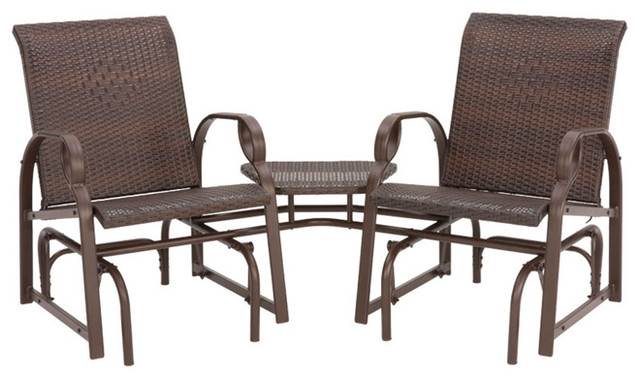 Charlevoix Tete A Tete Double Glider Chairs   Contemporary   Rocking Chairs    By Overstock.com