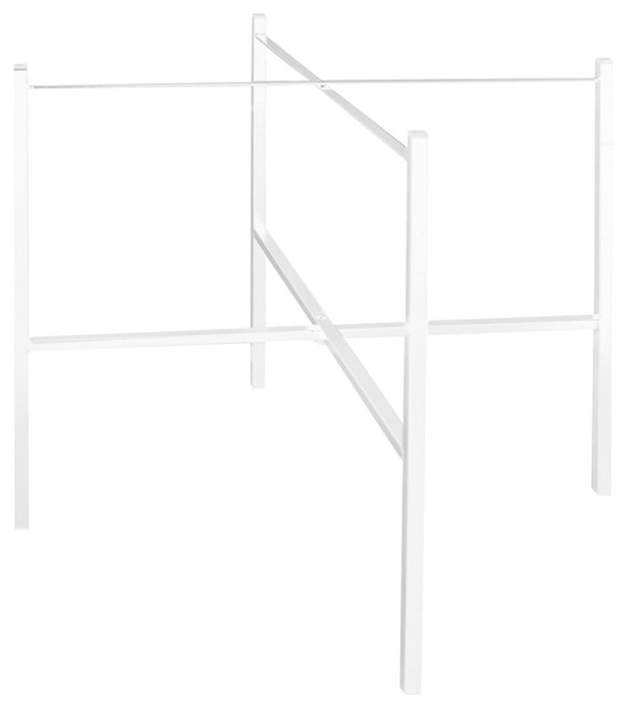 White Single Tray Stand