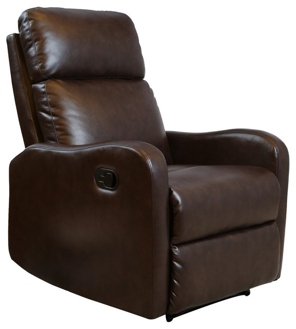 Bonzy Recliner Chair Chocolate Leather Recliner Chair For Modern Living Room