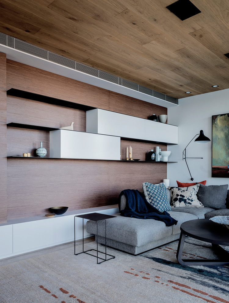 Photo of a contemporary home design in Sydney.