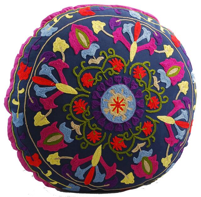 Medallion Round Floor Pillow - Mediterranean - Floor Pillows And ...