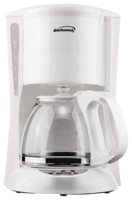 Brentwood 12-Cup Digital Coffee Maker, White.