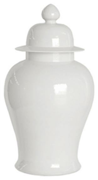 Large Decorative Jars Endearing Large White Ginger Jar  Asian  Decorative Jars And Urns Decorating Inspiration