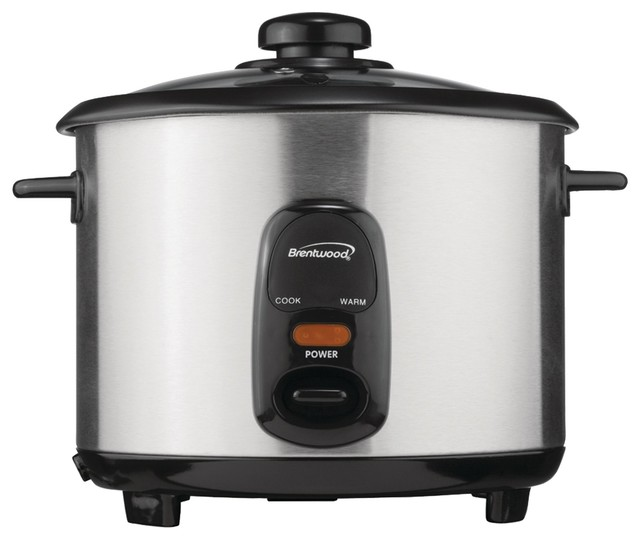 Brentwood 5-Cup Stainless Steel Rice Cooker.