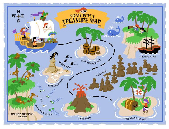 Pirate Peteu0027s Treasure Map, LG Wall Mural   Paint By Numbers Contemporary  Wall  Part 89