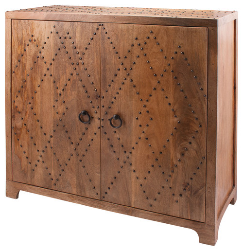 Dimond Home Plaid Nail Head Cabinet