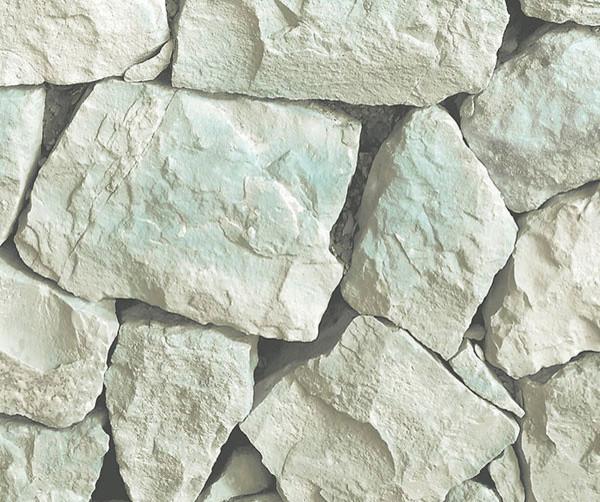 Realistic Rock Wall Pattern Wallpaper Contemporary Wallpaper