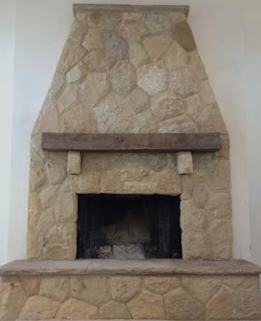 Custom Stone Fireplace