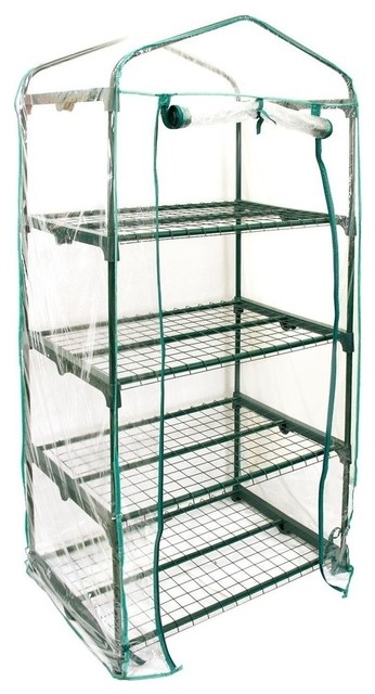"4-Tier Greenhouse, 27""x19""x63"", Grow Seeds And Seedlings."