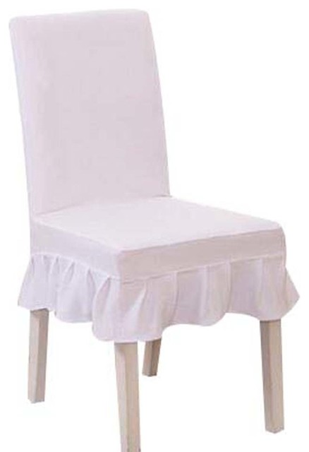 Fit Stretch Chair Covers 2 Pcs Seat Short Cloth White Elastic Chair  Slipcovers Contemporary Slipcovers
