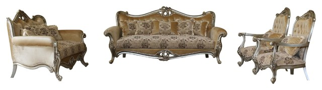 Valeria Luxury Sofa 4 Piece Set Victorian Living Room Furniture Sets By Usa Furniture Warehouse