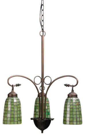 "Meyda 20.5"" Terra Verde 3-Light Chandelier"
