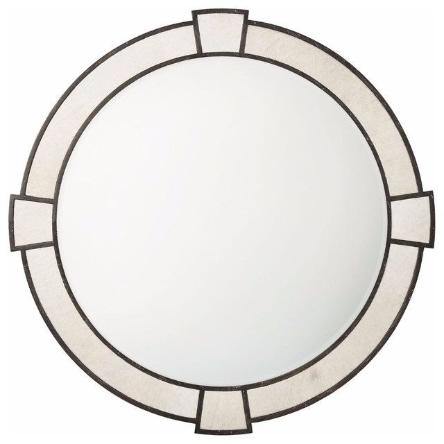 Art Deco Style Round Wall Mirror Transitional Wall Mirrors By English Georgian America