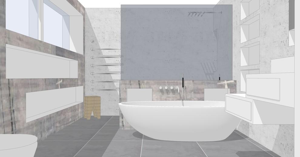 Bad mit freistehender Wanne Bild VII