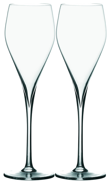 Peugeot Esprit 180 6 Ounce Champagne Glass Set Of 4 Contemporary Wine Glasses By Bigkitchen