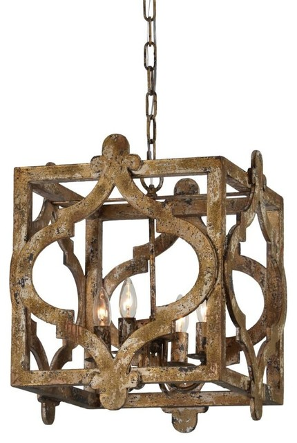 Caroline 4 Light Chandelier Rustic Chandeliers By Out Of The
