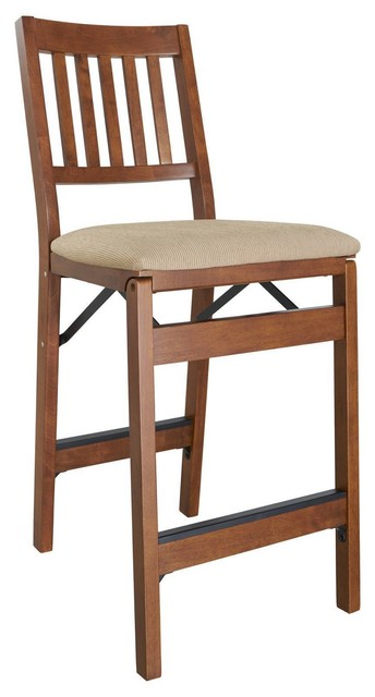 Marvelous Folding Counter Stool Fruitwood Finish And Jax Fabric Set Of 2 Spiritservingveterans Wood Chair Design Ideas Spiritservingveteransorg
