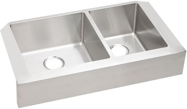 "Elkay Crosstown Stainless Steel 35-7/8""x20-1/4""x9"" Apron Front Sink Ectruf32179r"