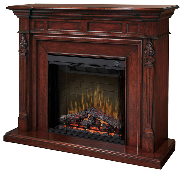 "Dimplex Torchiere Mantel Electric Fireplace, 20"" Inner Glow Logs Firebox."