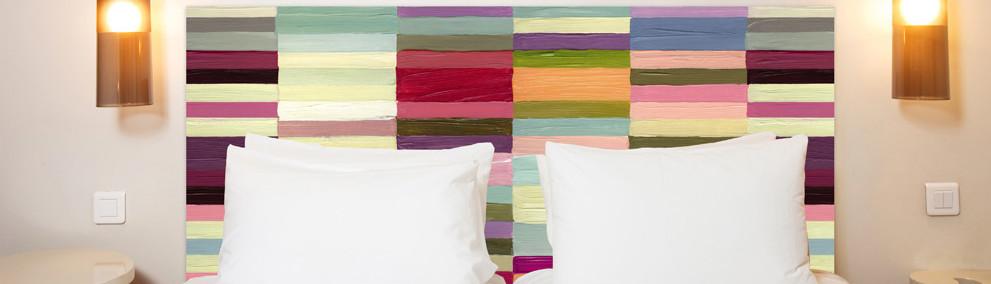 collection t tes de lit peintures. Black Bedroom Furniture Sets. Home Design Ideas