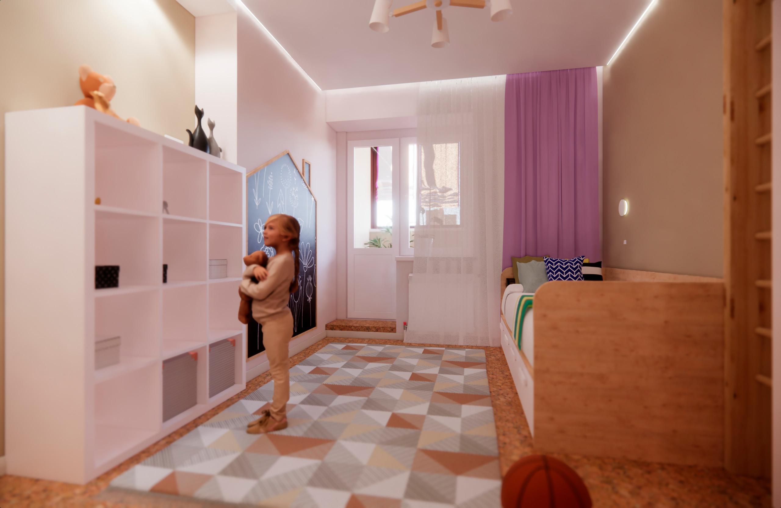 Квартира в минималистичном стиле в Пушкино