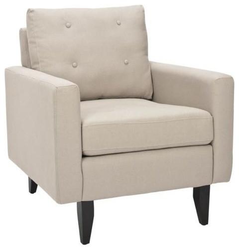 Safavieh MCR4569 Caleb Club Chair, Taupe by Safavieh