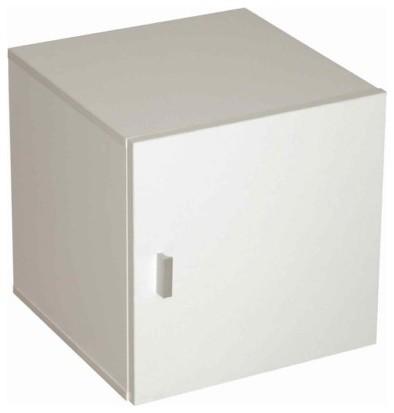 """Door Container """" Caro"""" With 1 Door, White Veneer."""